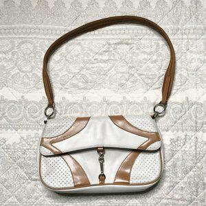 Prada Vintage White Leather Shoulder Bag